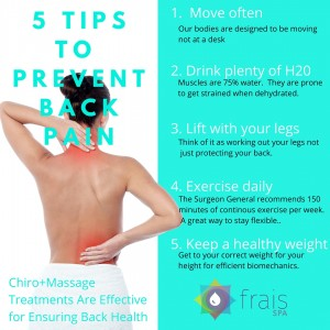 Improve your spinal function as well as improve muscle movement with a Frais Spa combination chiropractic and massage treatment.  Call 213-784-8194 to book your appointmen