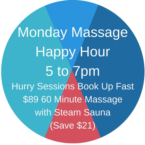 Monday Massage Happy Hour Button