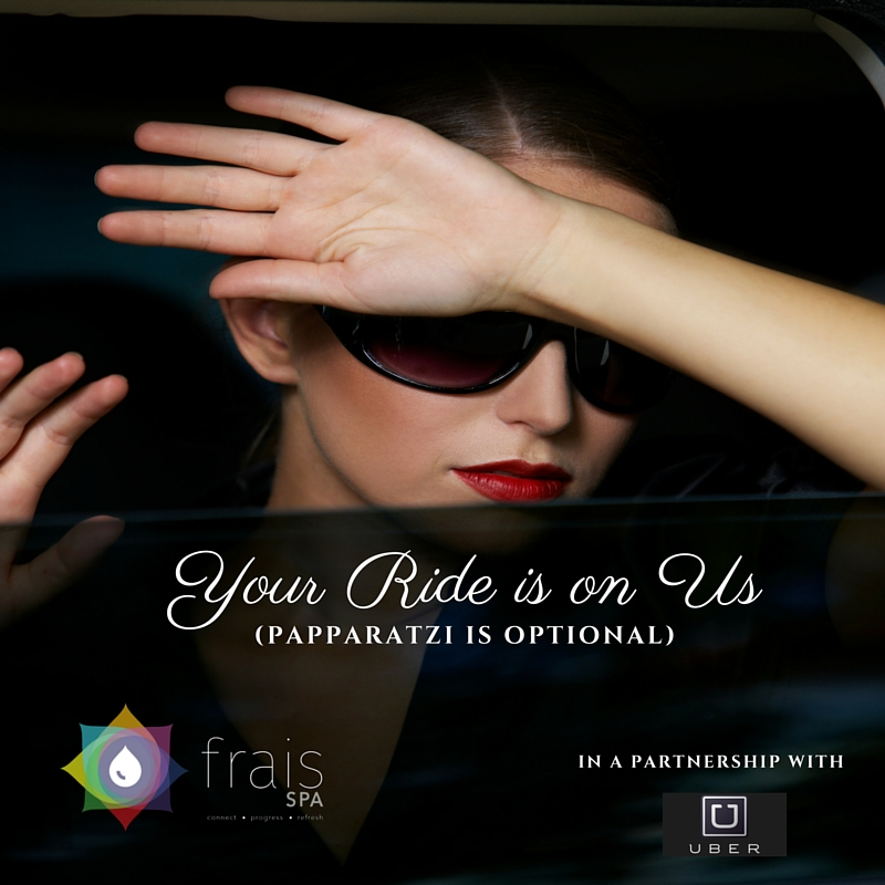 Bonjour! Pre-pay your next spa day, receive a $10 Uber code to/from Frais Spa. http://ow.ly/XvSr5